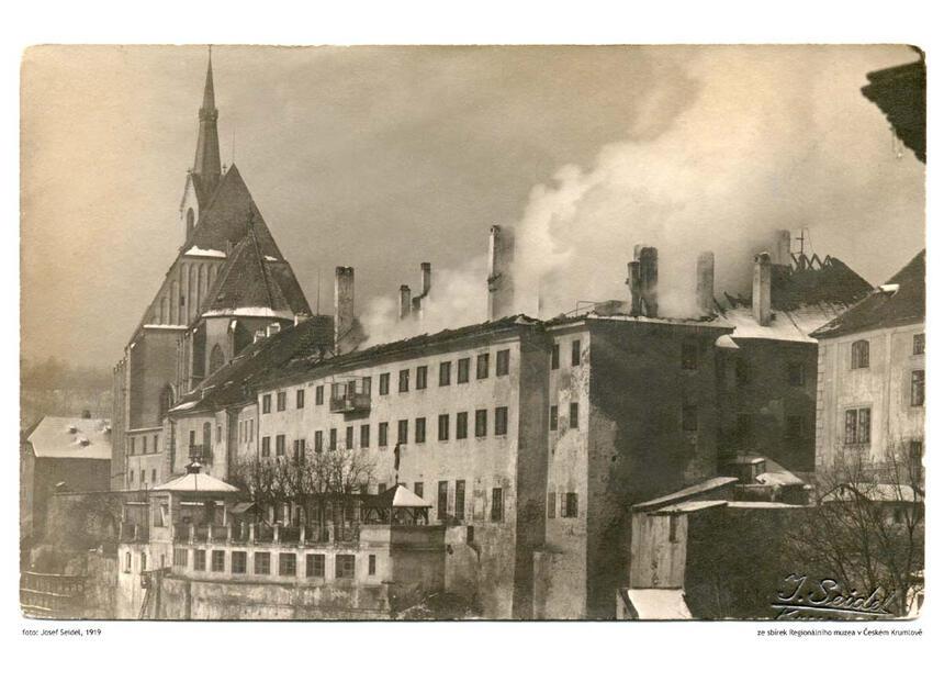1919 - Hotel Ruze, Český Krumlov, Czech Republic