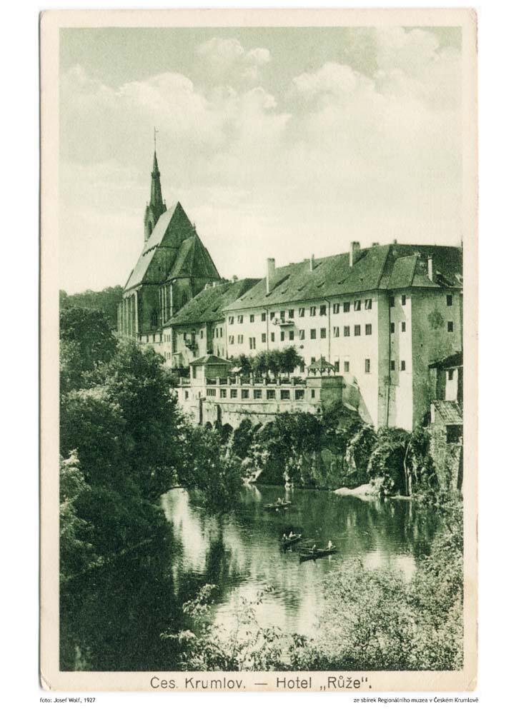 1927 - Hotel Ruze, Český Krumlov, Czech Republic