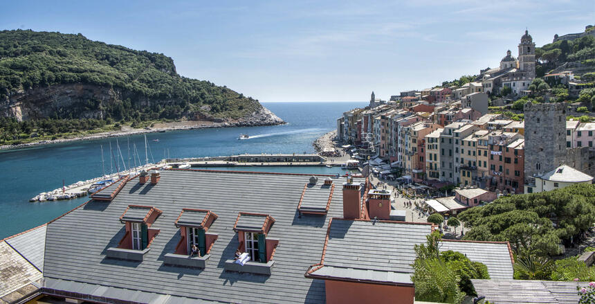 View from hotel-Hotel Portovenere