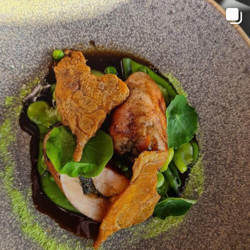 A chicken dish for dining at Freycinet Lodge