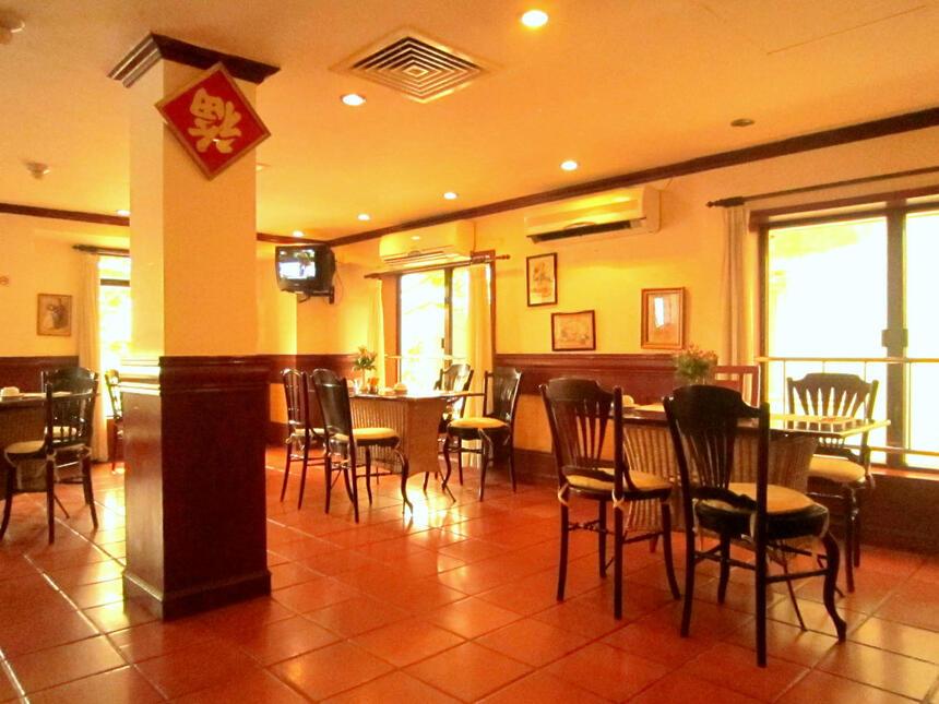 Dining area at Empress Café at Empress Hotel