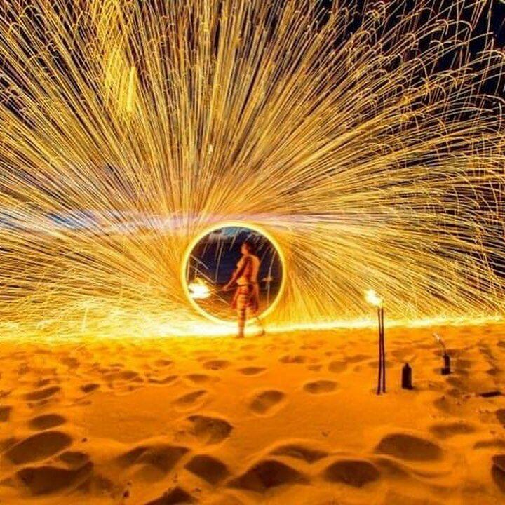 Firework display at the beach near  Somerset On Grace Bay