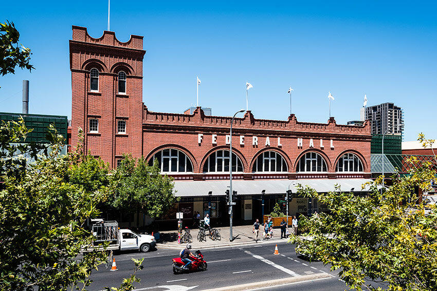Adelaide central markets building near Grosvenor Hotel