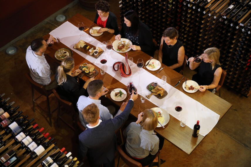 Group of People dining at National Wine Centre Australia near Grosvenor Hotel Adelaide