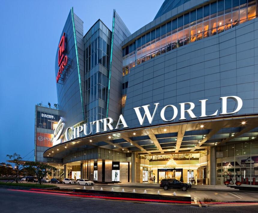 The Ciputra World mall near Vasa Hotel Surabaya
