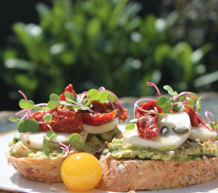 Avocado open sandwich at 144 On The Hill in Richmond