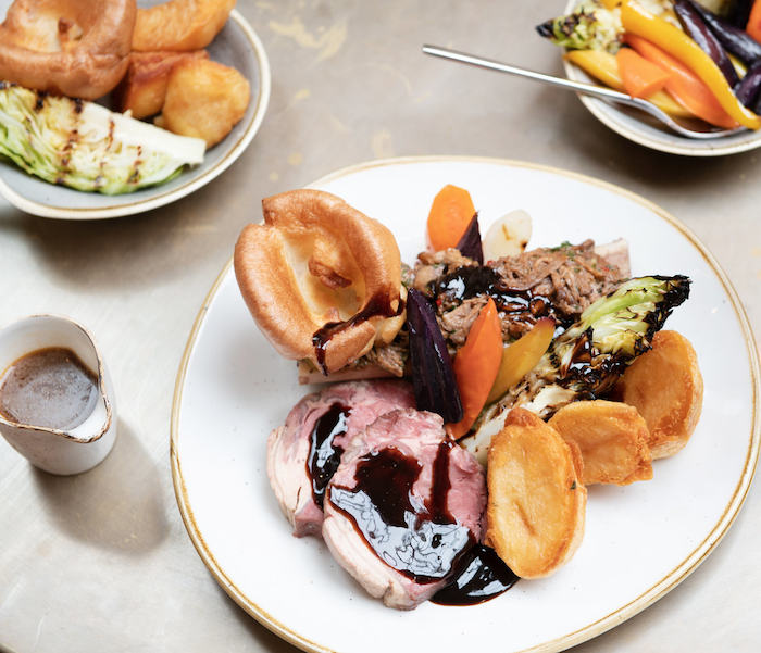 Beef Sunday roast dish at 144 On The Hill in Richmond