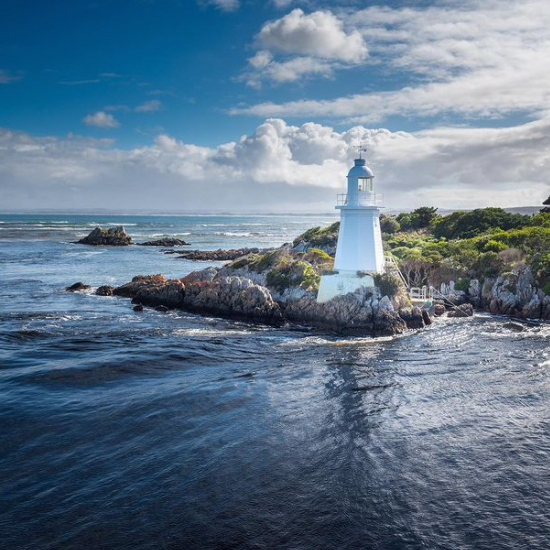 View of the lighthouse at Gordon River Cruises