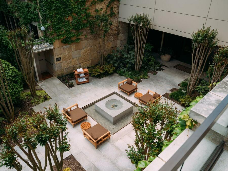 courtyard of spa