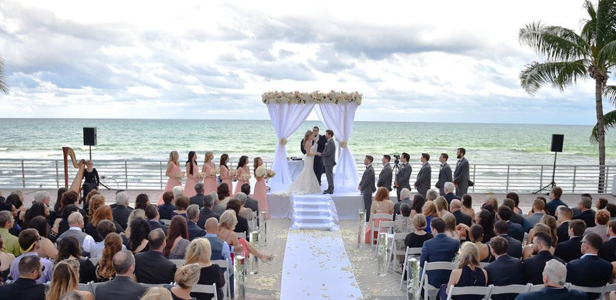 Outdoor Oceanfront Wedding Ceremony, South FL