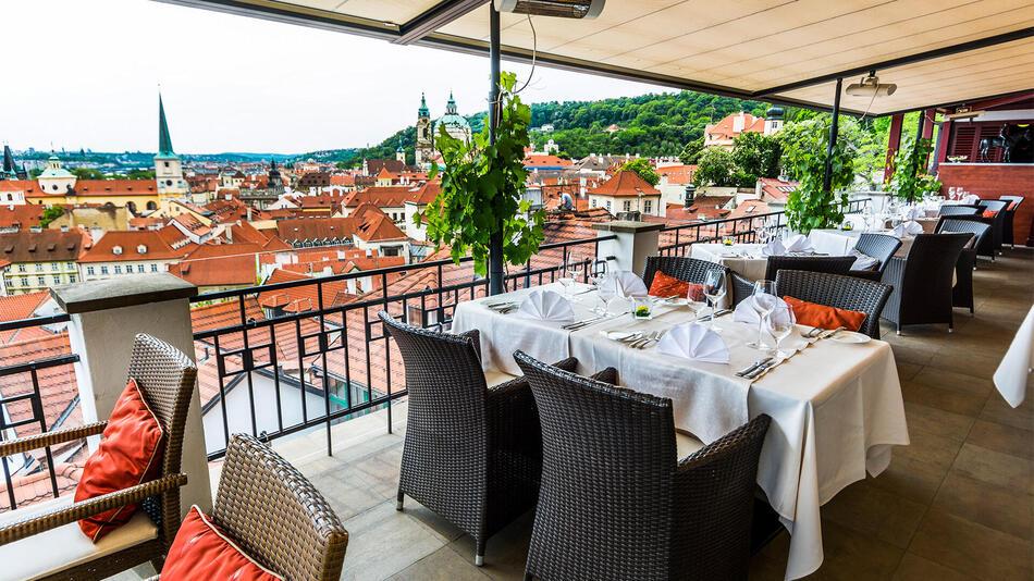 Terrace at Aria Hotel in Prague
