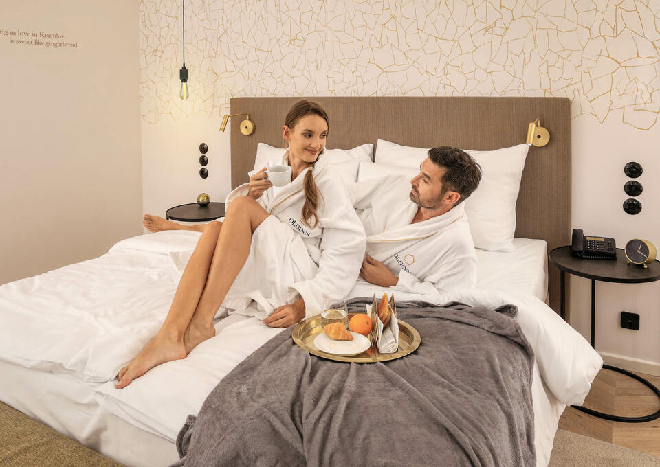 Couple in Deluxe Room at Hotel Old Inn
