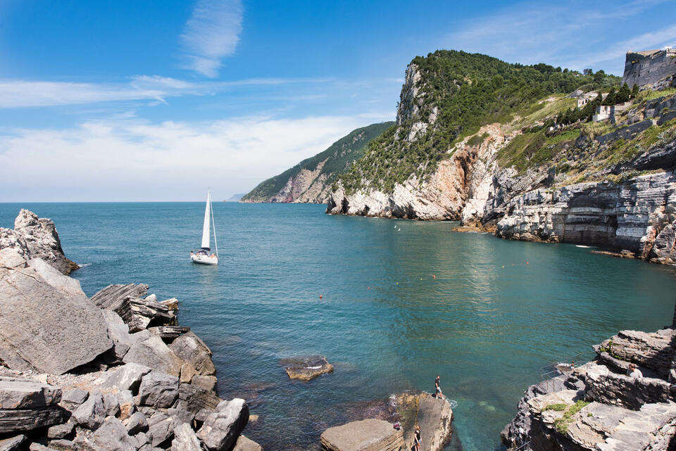 Water surrounded by rocks   -  Grand Hotel Portovenere