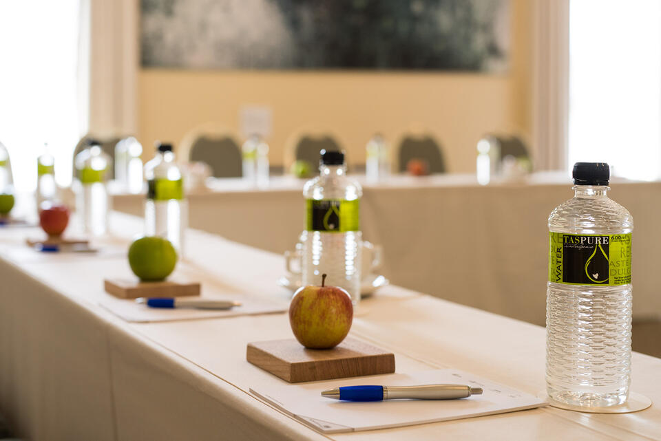 Conference room with food and drink at Cradle Mountain Hotel