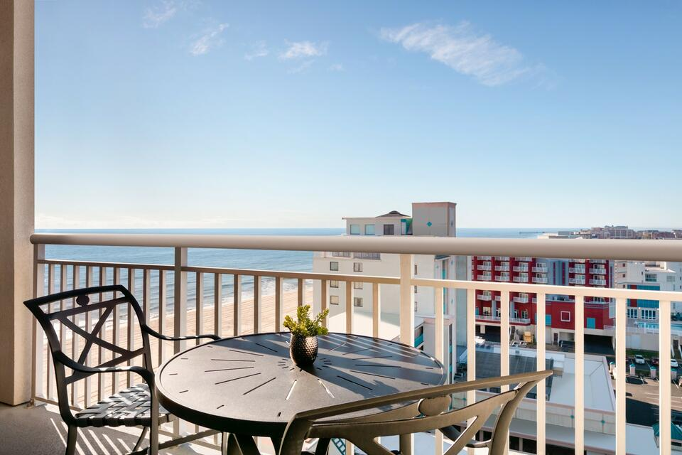 Terrace in a suite at Holiday Inn Hotel & Suites Ocean City