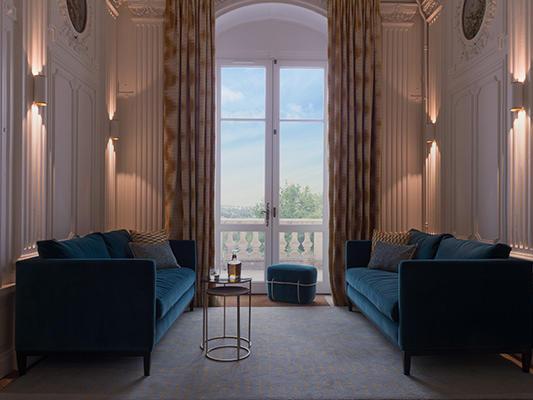 Living Room with views at The Originals City, Hôtel Clermont-Ferrand Sout Aubière