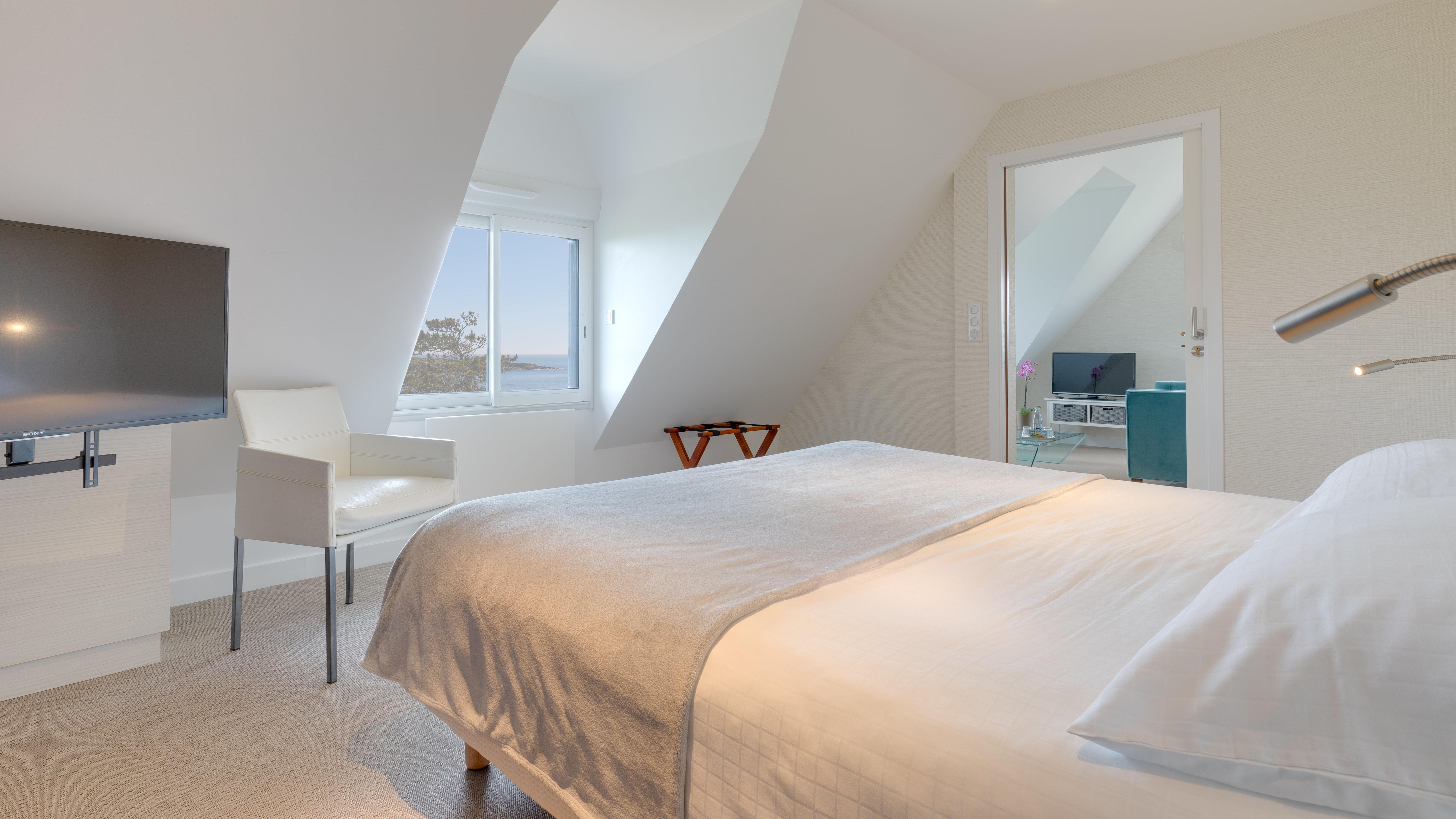 Panoramic Room at Ar Men Du Hotel in Névez, Brittany