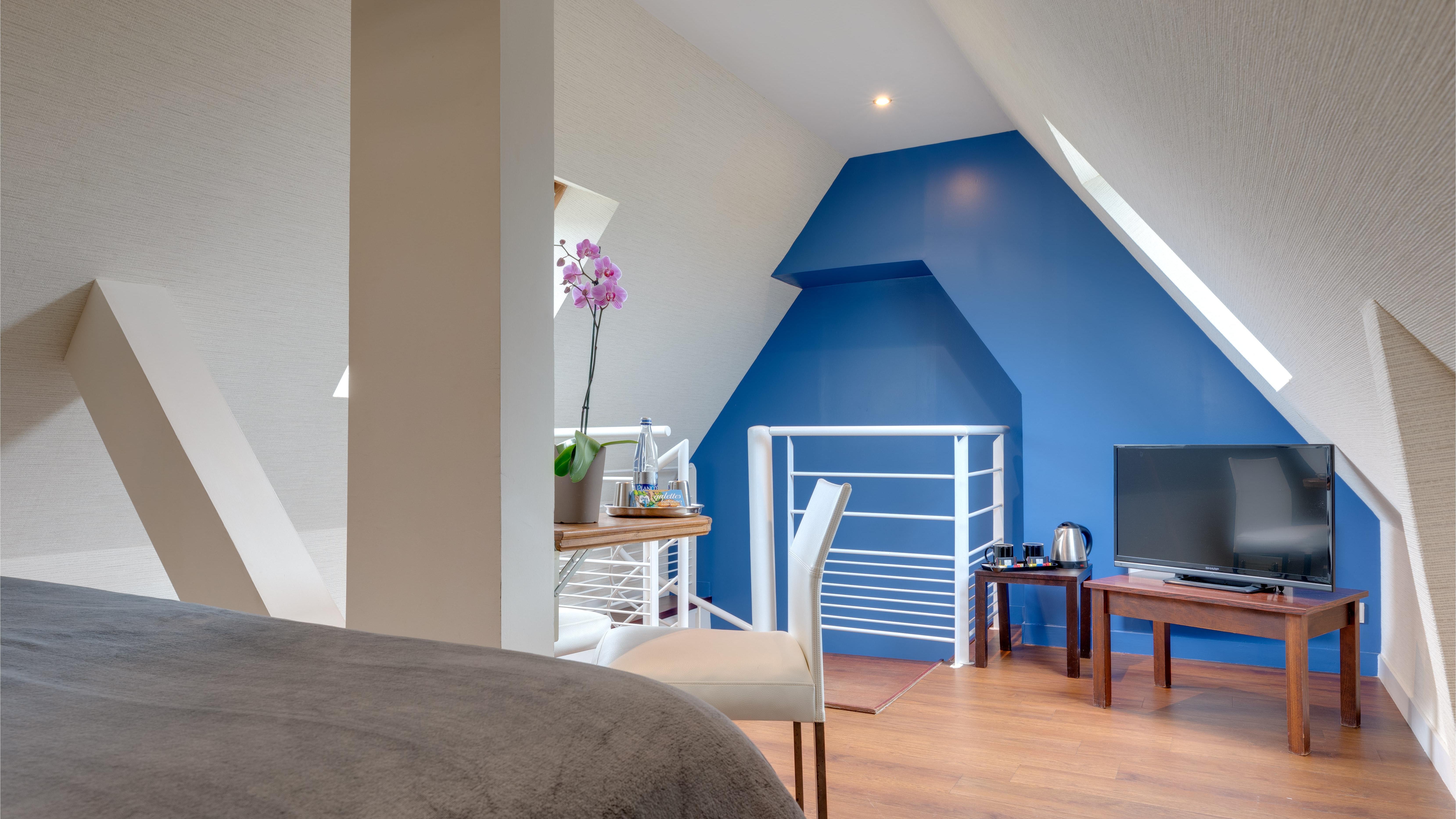 Duplex Room at Ar Men Du Hotel in Névez, Brittany