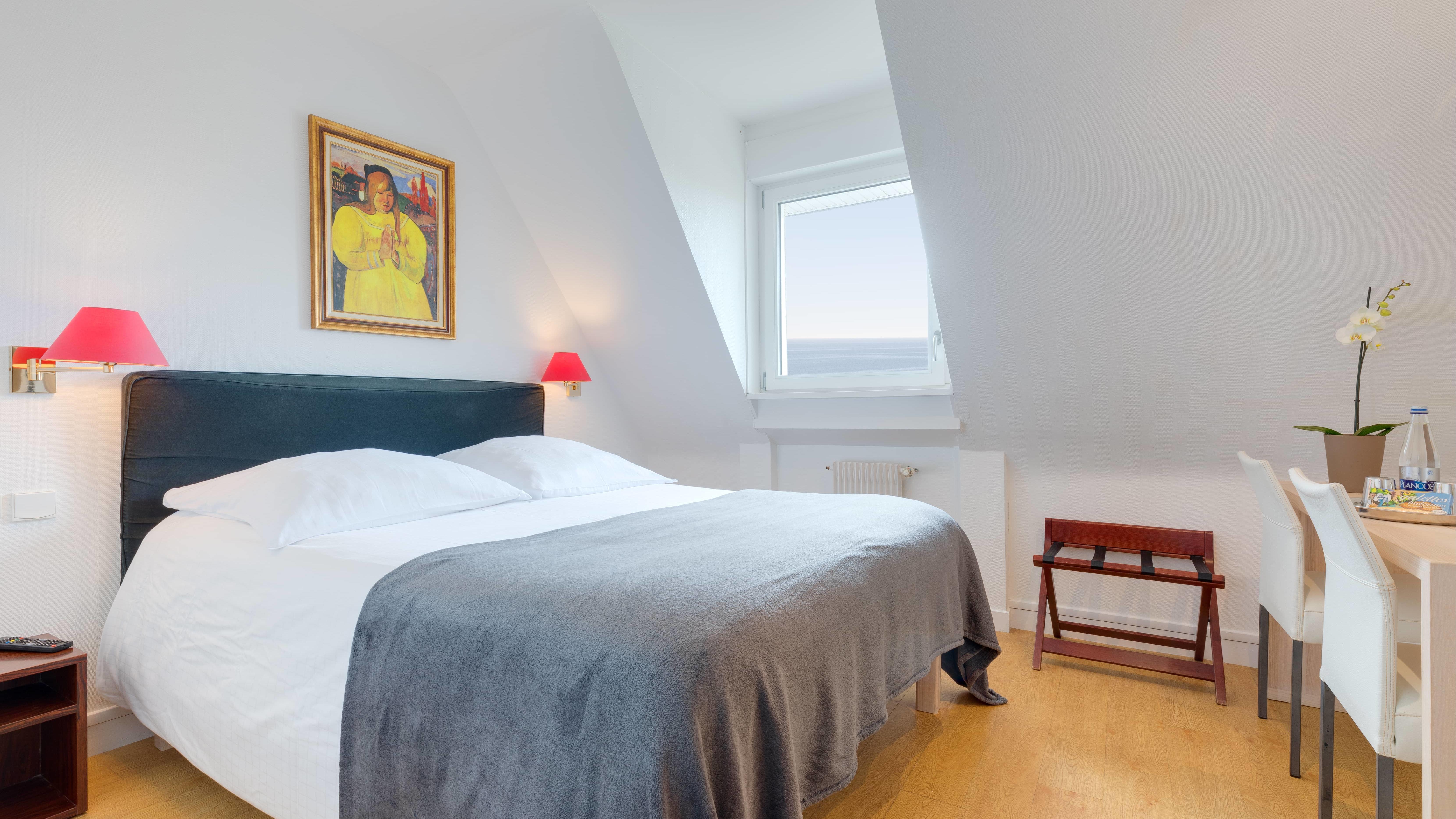 Sea View Room at Ar Men Du Hotel in Névez, Brittany