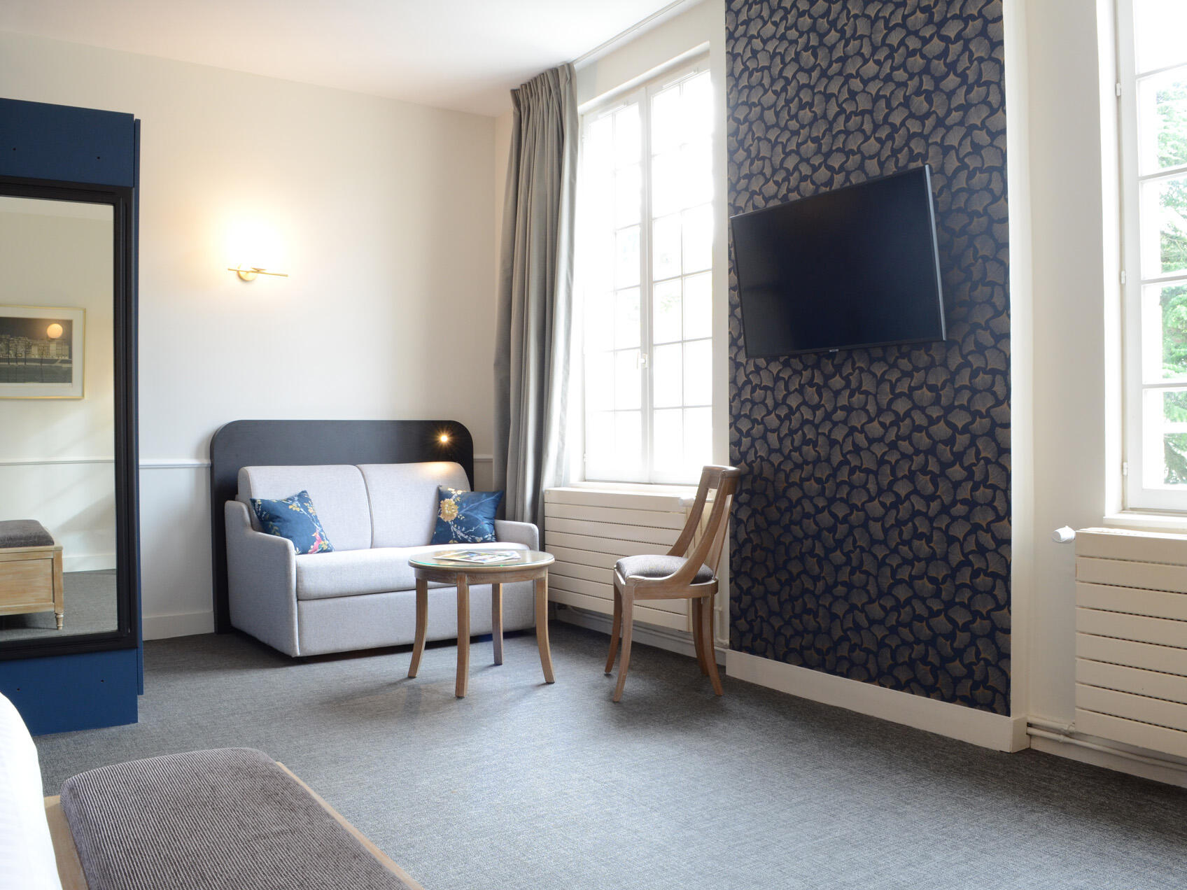 Interior of Prestige Chateau chambre at The Originals Hotels