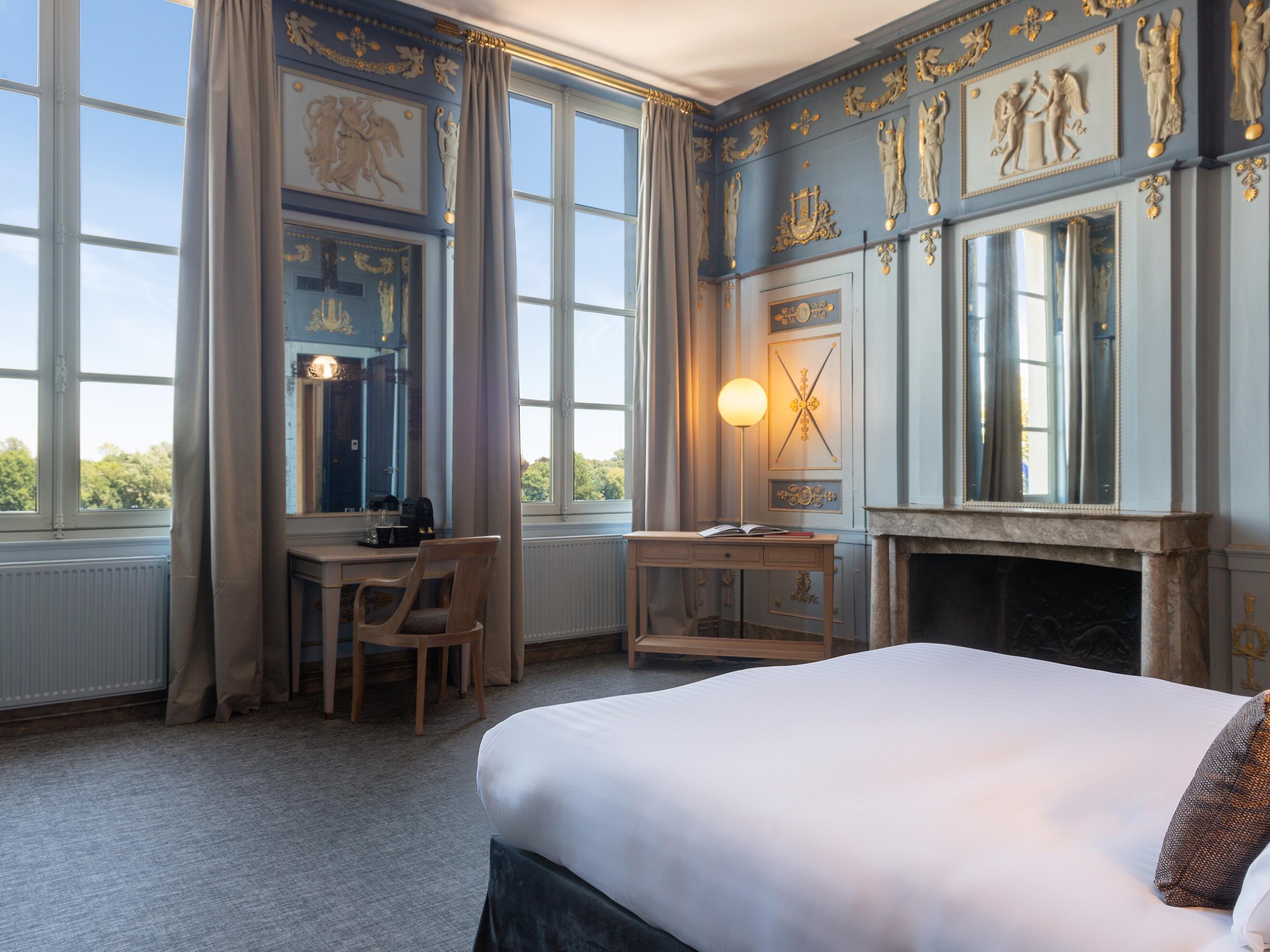 Interior of chambre prestige loire room at The Originals Hotels