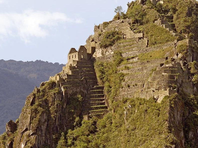 Machu Picchu citadel view from Huayna Picchu near Hotel Sumaq