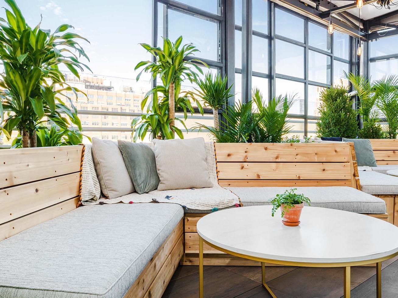 B On top terrace