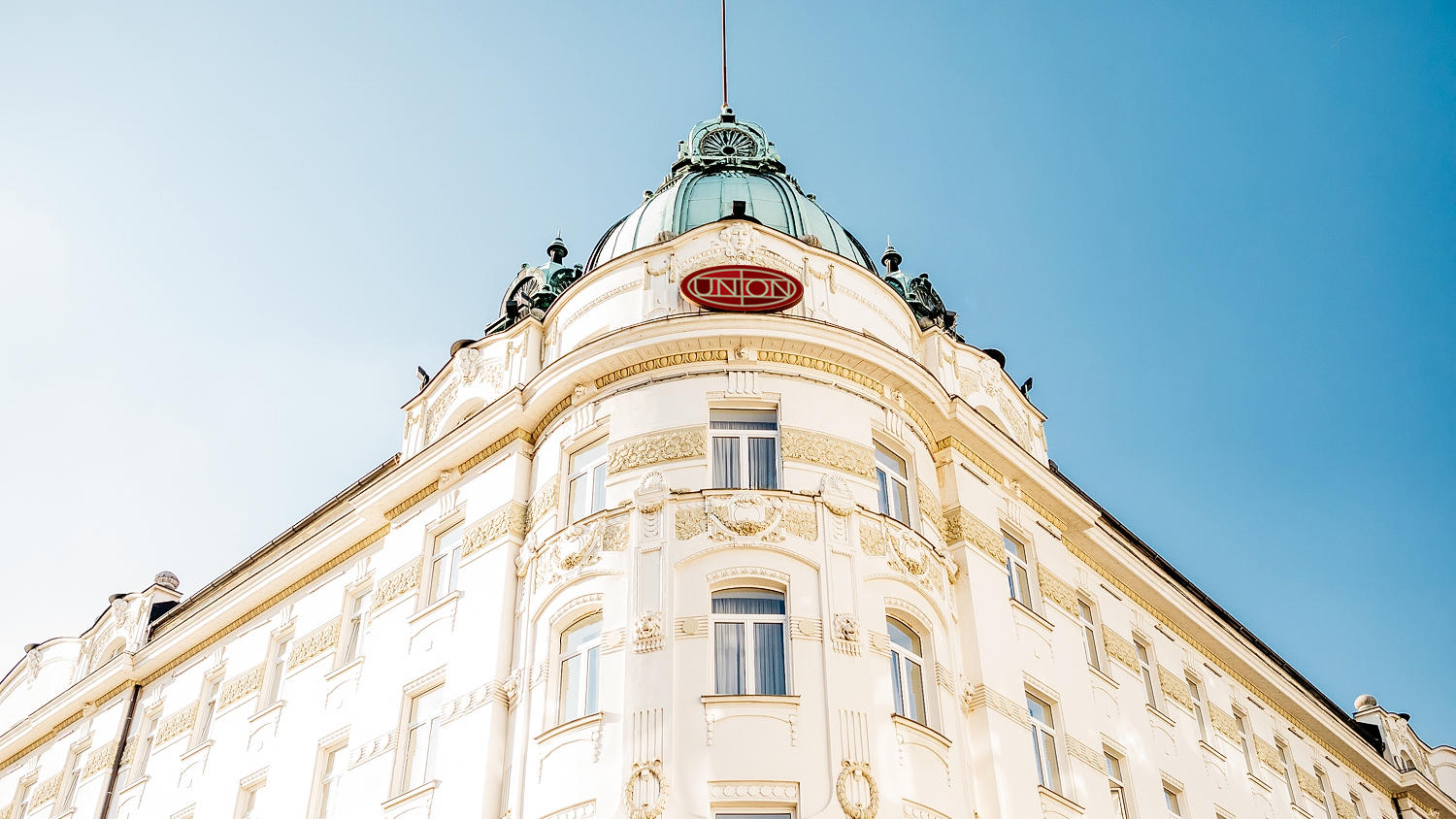 Facade from Grand Hotel Union in Ljubljana
