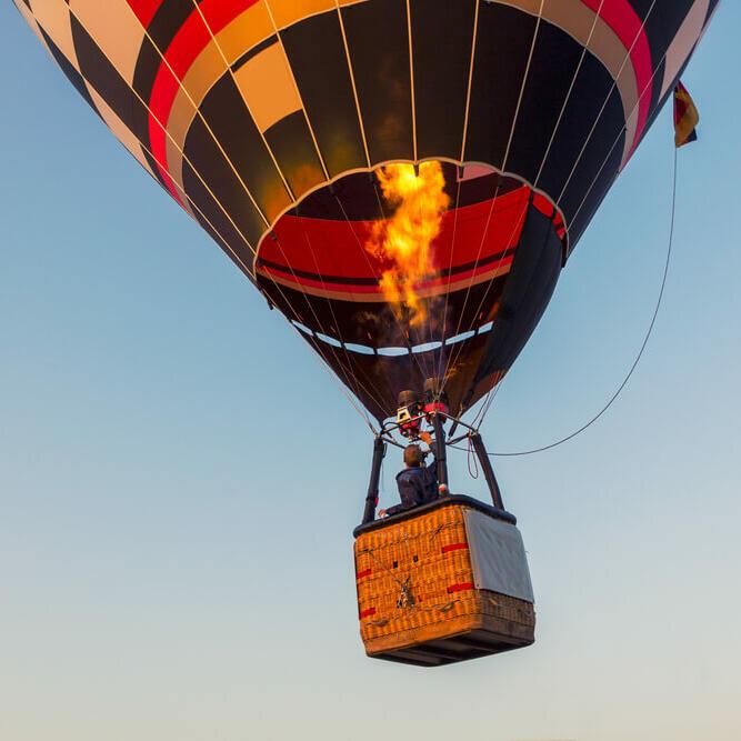Hot air balloon in the sky near Be Fremantle