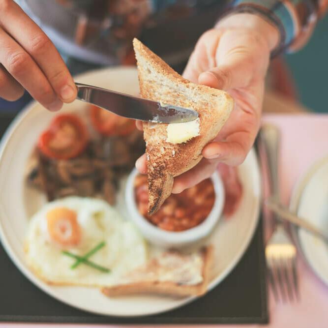 Breakfast food served by a restaurant near Be Fremantle