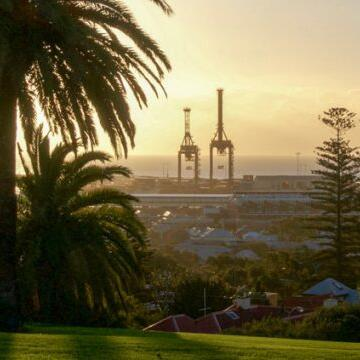 View of the Fremantle city near Be Fremantle