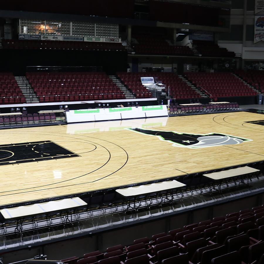 CenturyLink Arena Basketball Court