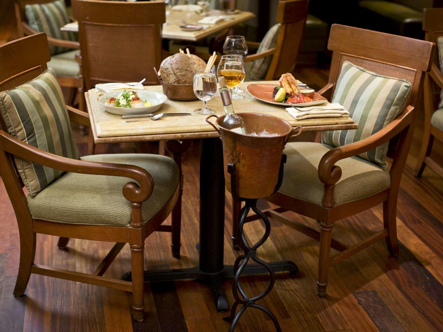 Table set for 2 at Capriccio Grill