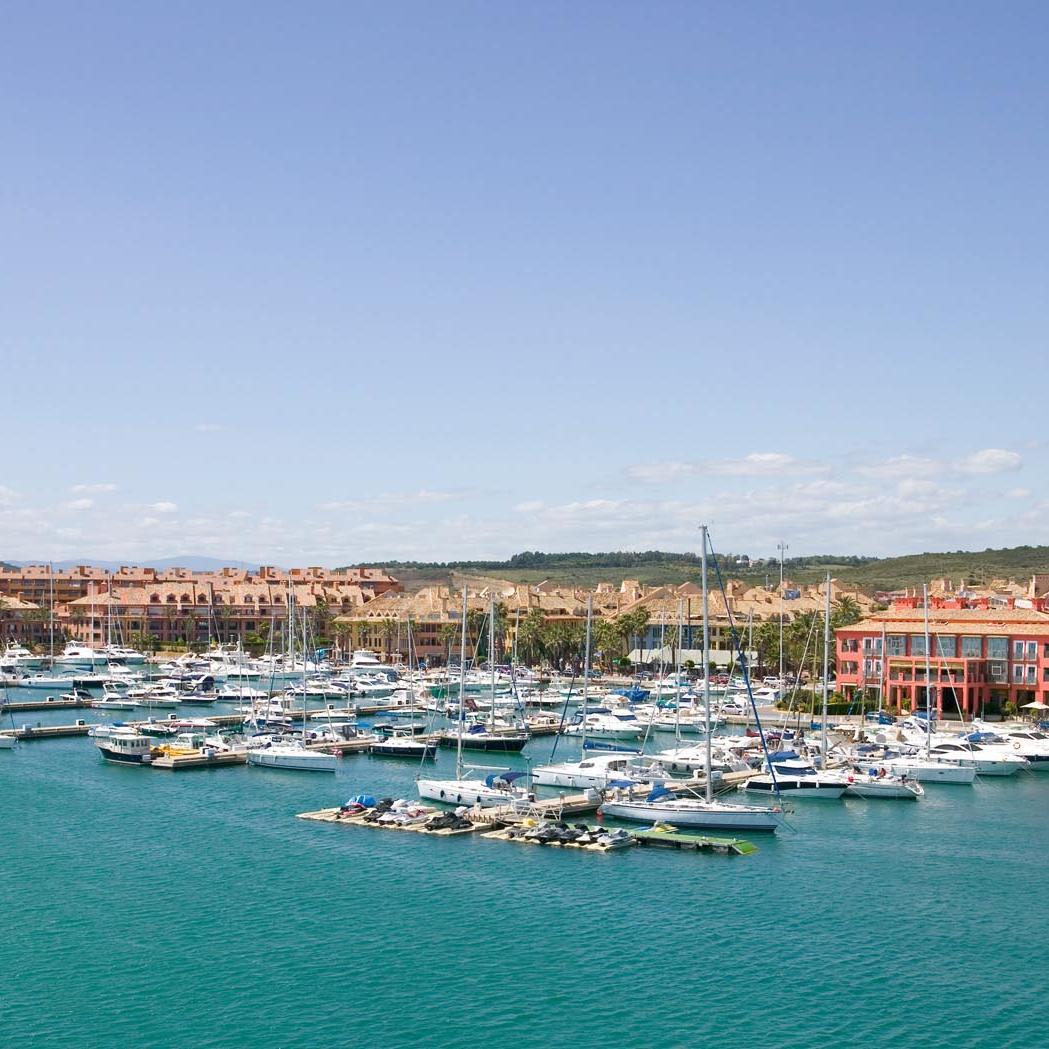 Vistas desde el Hotel Club Marítimo de Sotogrande en Cádiz