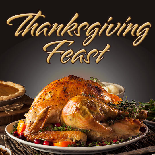 Thanksgiving Turkey Sitting on Table