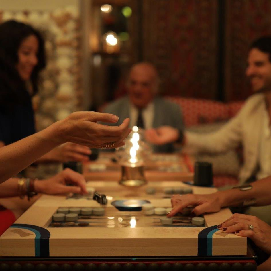 An afternoon playing Backgammon at Rudi's in Marbella Club