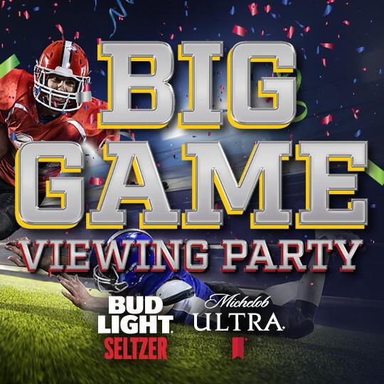 Big Game Viewing Party Logo