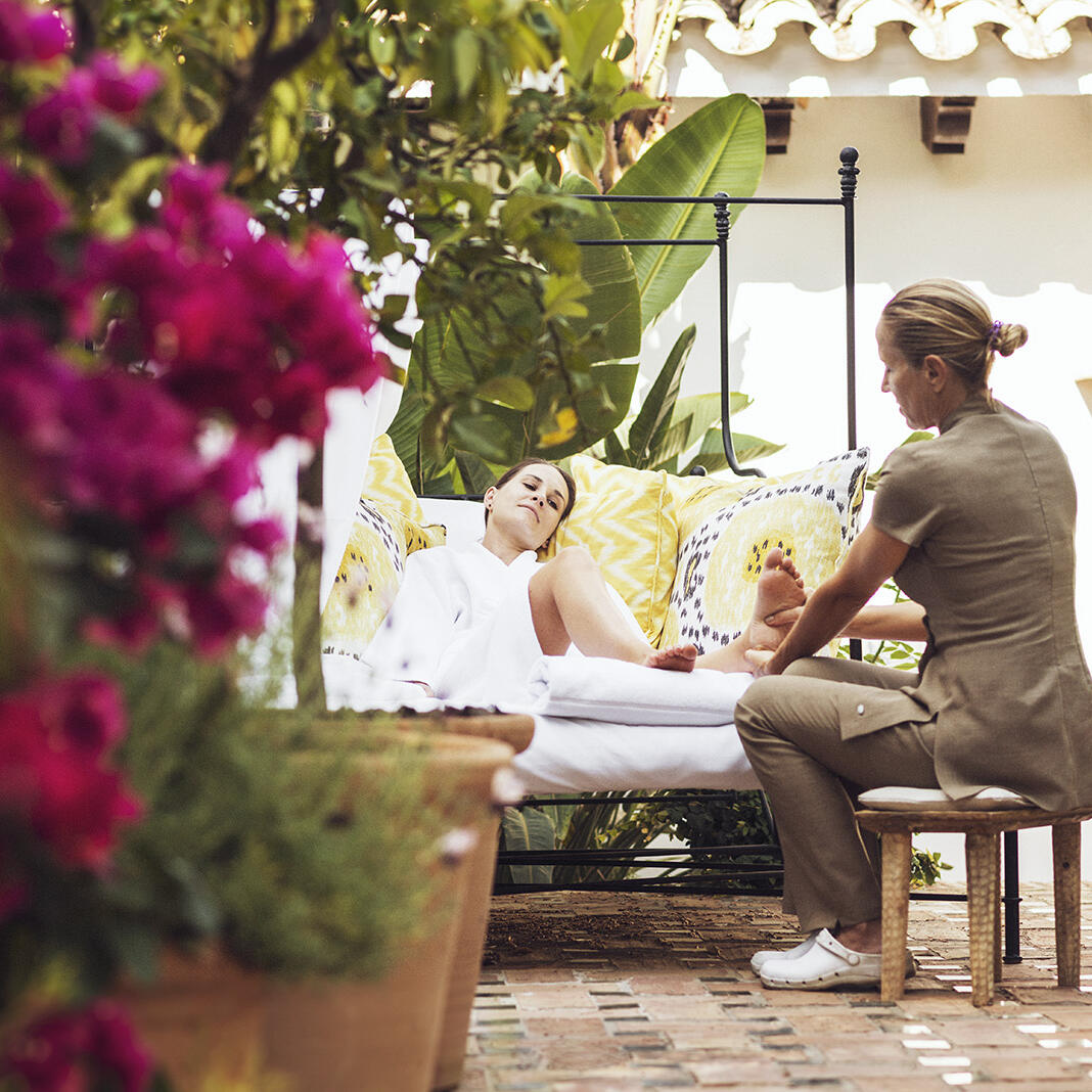 Reflexology masterclass at the Marbella Club