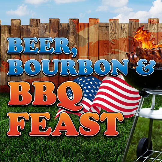 Beer Bourbon and BBQ Feast Logo