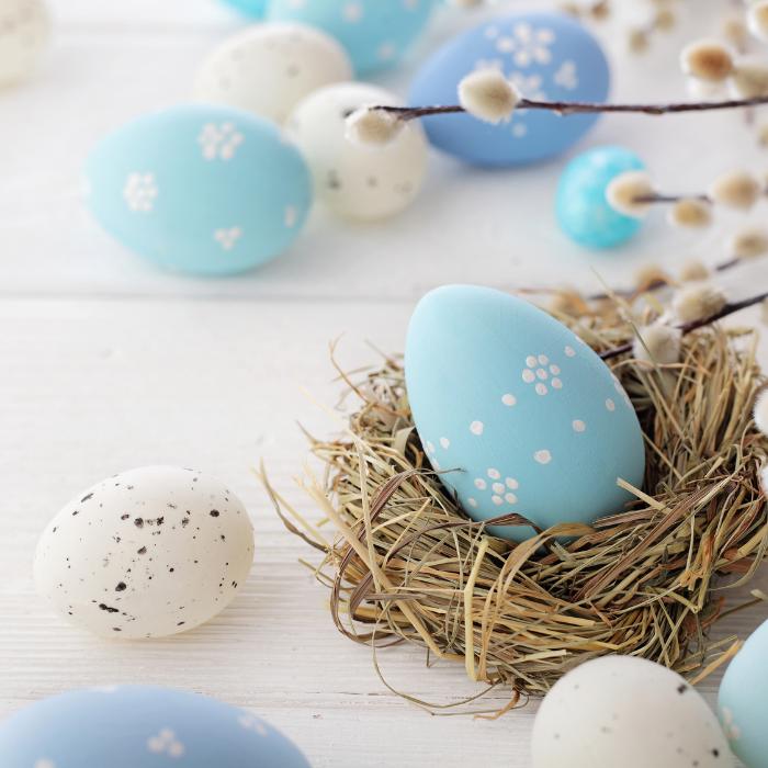 Easter Brunch 2021 Avalon NJ Image of Blue Easter Eggs
