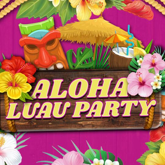 Aloha Luau Party Logo