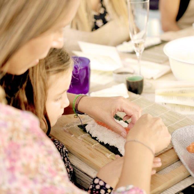 Family sushi masterclass at the Kids Club at Mabella Club