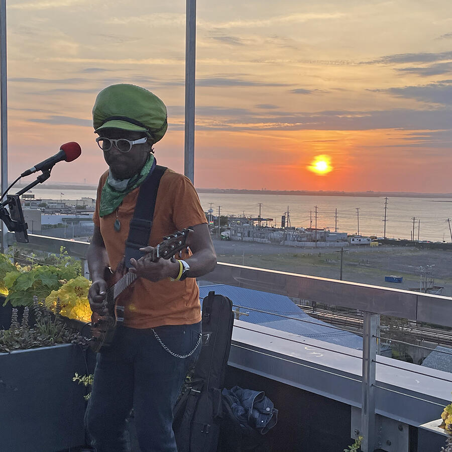 Jahstix Performing at the Rooftop in The Rockaway Hotel
