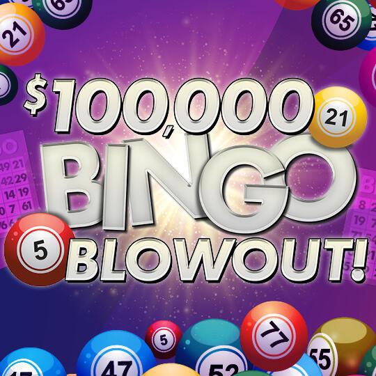 Bingo Blowout Logo with Bingo Balls