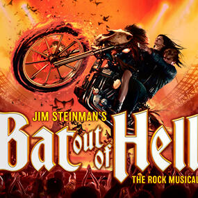 Poster of Bat out of hell Rock musical concept