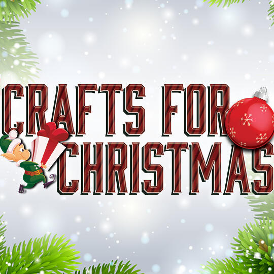 Crafts for Christmas Logo against a white snowy background