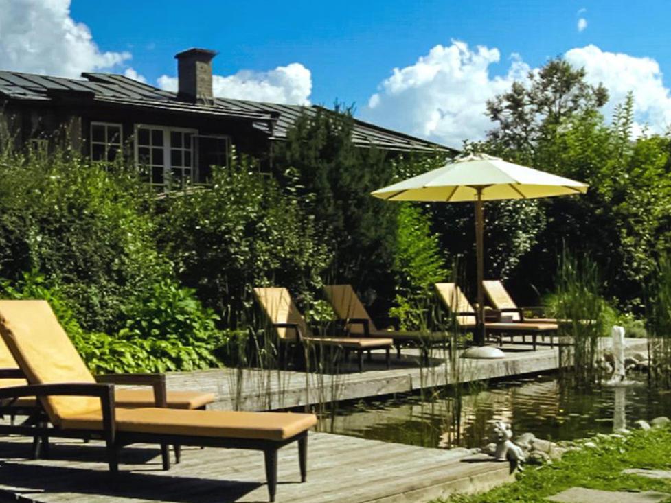 Private Garden at Tiefenbrunner Hotel in Kitzbühel