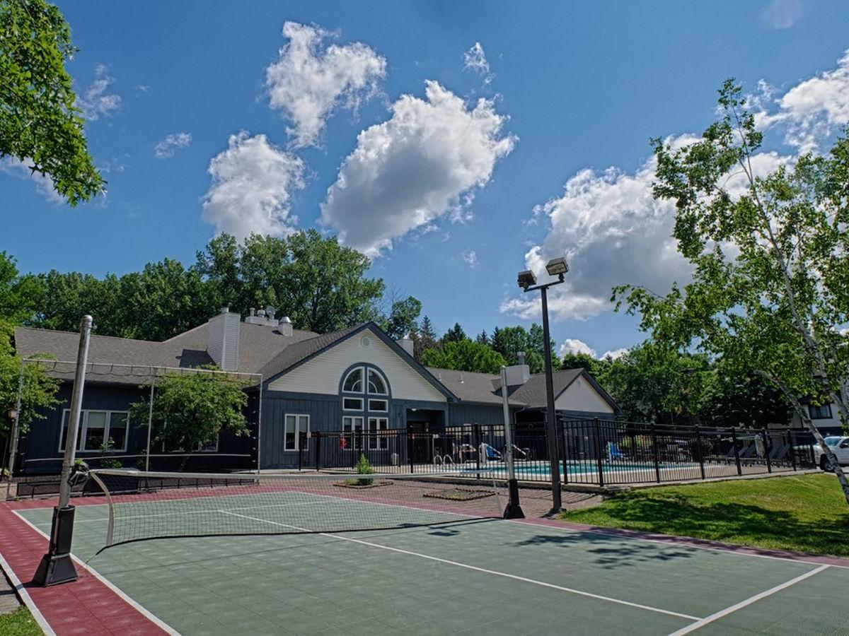 outdoor basketball and racquet court