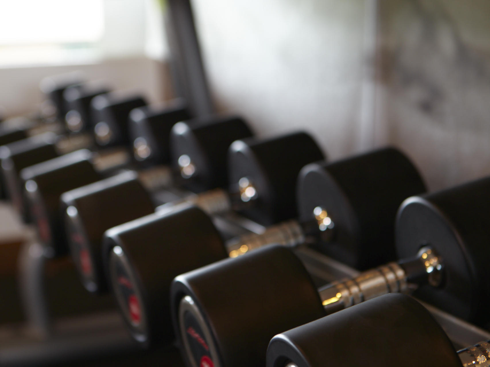 Dumbbeells of Gym of U Hotels and Resorts