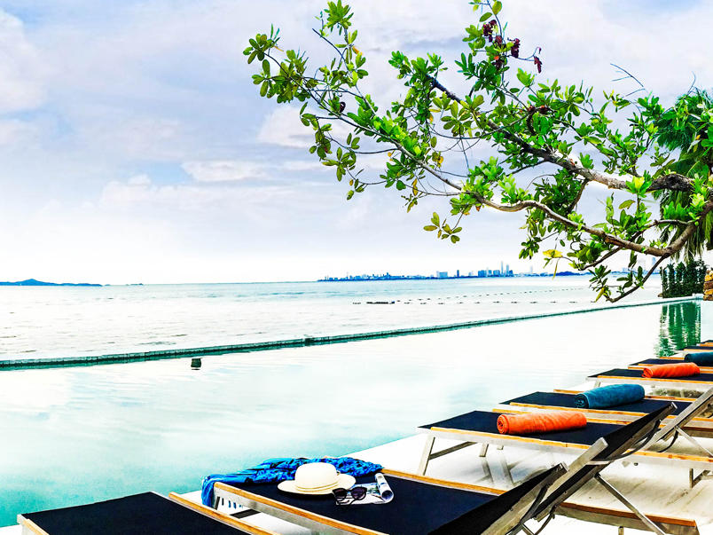 Swimming Pool with sea view at U Hotels and Resorts